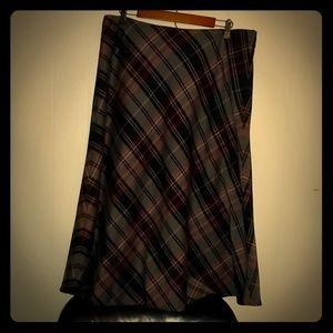 Plaid Ankle Length Skirt